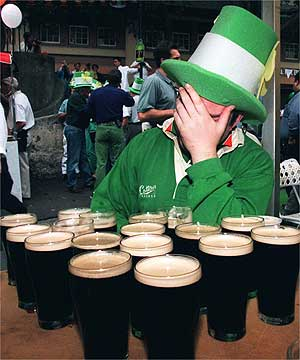 When Irish drink, they drink for real.