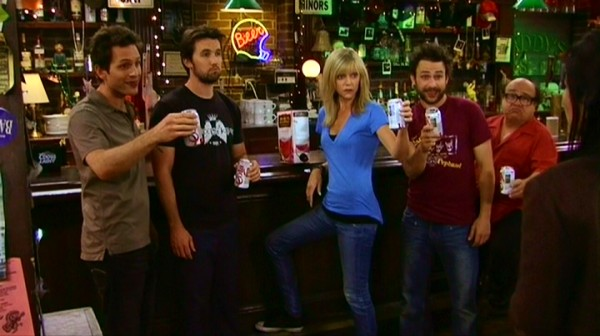 The gang from It's Always Sunny in Philadelphia; spend their lives getting drunk in their own bar, while they come up with ridiculous plans to get rich. This could bring some life to our party.