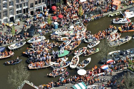Traffic jam in Amsterdam.