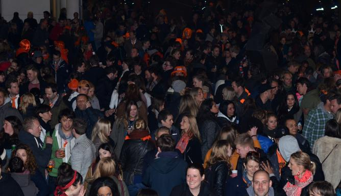 The night before Queen's Day is a big thing in Den Haag.