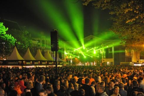 Laser show in Groningen.