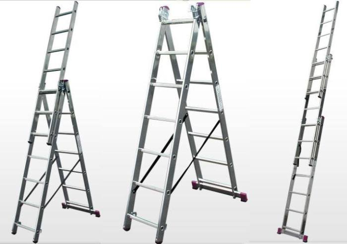 A ladder can be a great tool to have after a night of  heavy drinking.