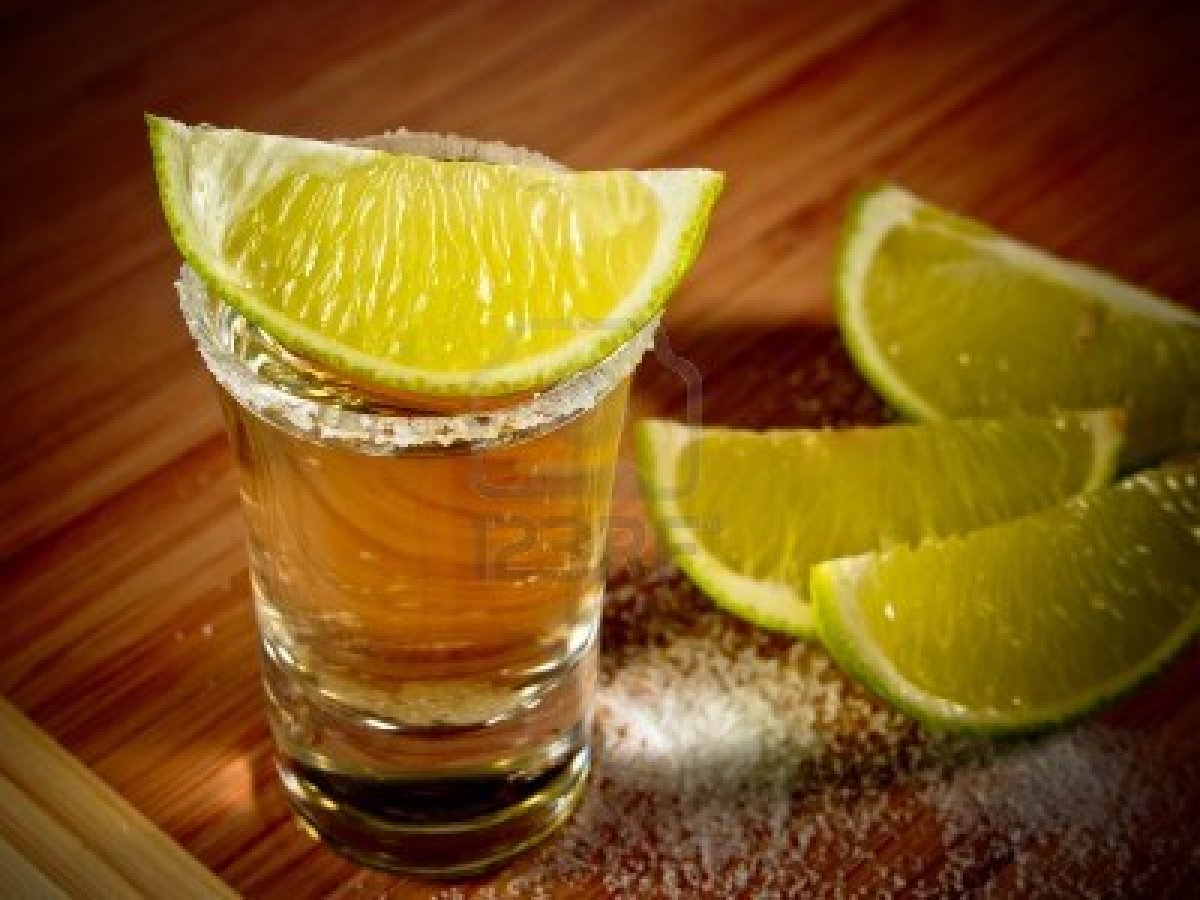 How do you take a shot of tequila with lime and salt