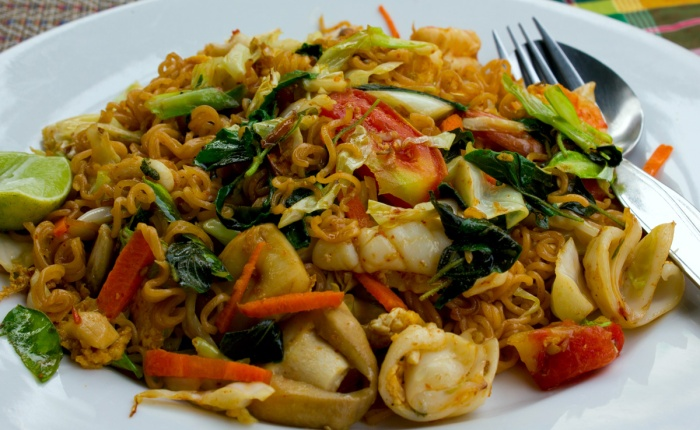 Pad Ki Mao, or drunken noodles.