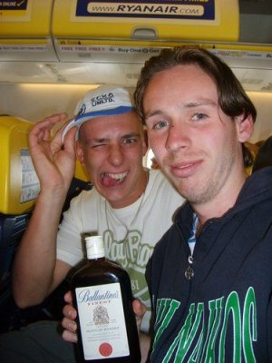 A bottle of booze on board makes a flight so much more fun.