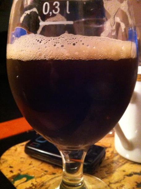 Your very own beer: priceless. This is Sasho's first homemade production, a Flemish brown beer.