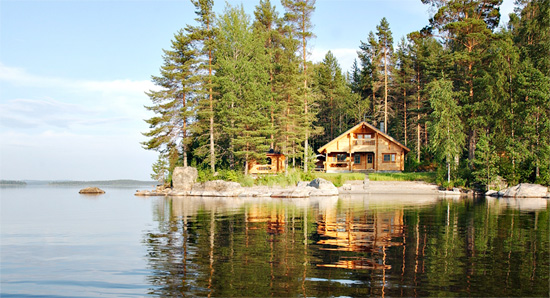Typical Finnish cottage:  home of some great drinking action.