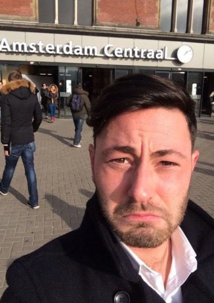 James O'Kane found himself back in Amsterdam.