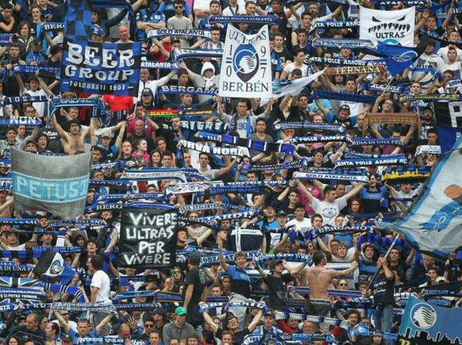 Banner at Atalanta Bergamo (Italy): Beer Group.
