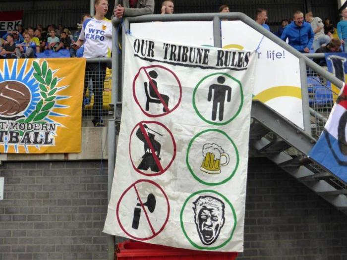 Cambuur Leeuwarden (Holland) shows how they feel football matches should be experienced.