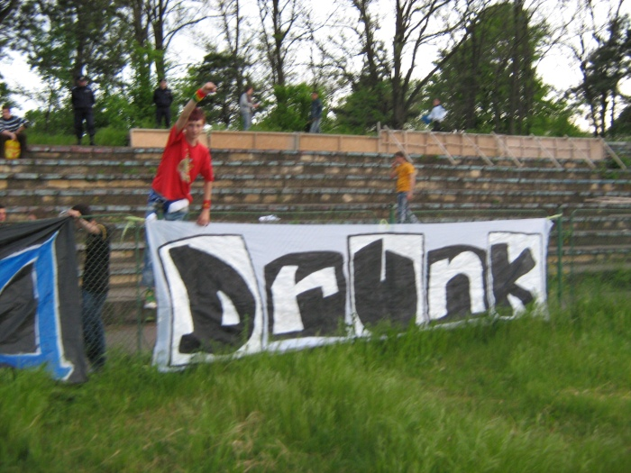 A fanclub of the Romanian team FC Delta Tulcea goes by a name that is as simple as it is great: Drunk.