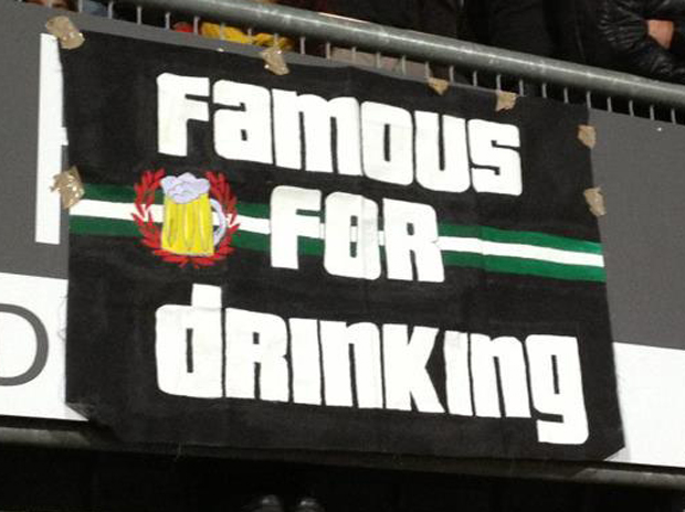 Small banner at Feyenoord Rotterdam (Holland).
