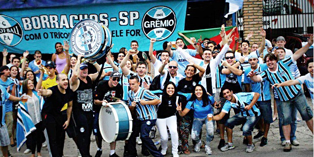 More Gremio. This fanclub is simply named Sao Paolo drunks.