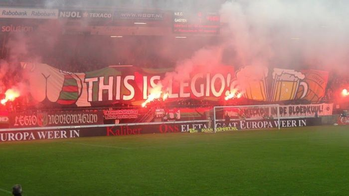 Another tifo from Holland. This is NEC Nijmegen.