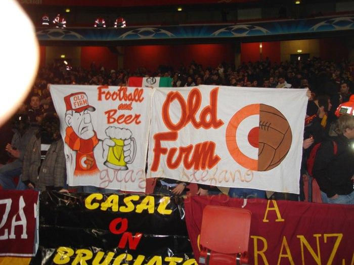Nice beer banner by AS Roma from Italy.