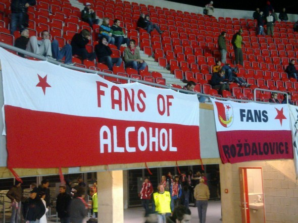 Simple message, but a good one. This is Slavia Prague from Czech Republic.