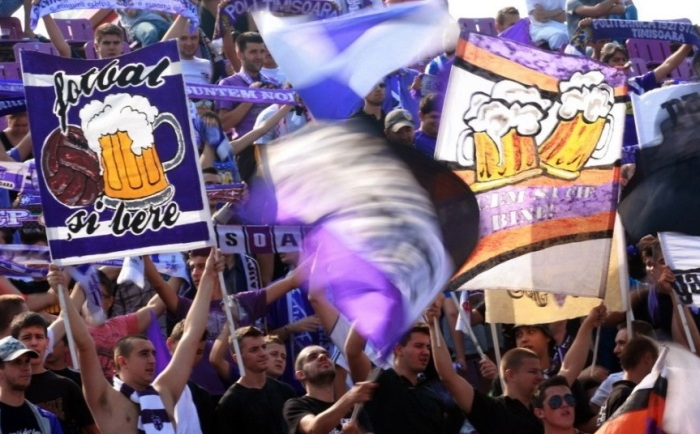 The Romanian fans of Politechnica Timisoara make sure there is no doubt about their favorite hobby besides football.