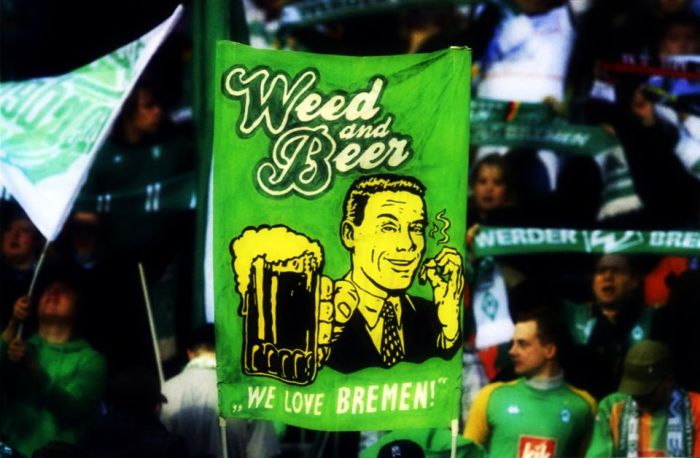 Nice banner in the section of German team Werder Bremen.