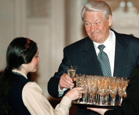 Former Russian president Boris Yeltsin at his best.