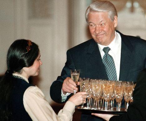 Former Russian president Boris Yeltsin at his best.