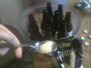 Add a little sugar before putting the cap on the bottle. Half of this spoon is enough for one bottle.