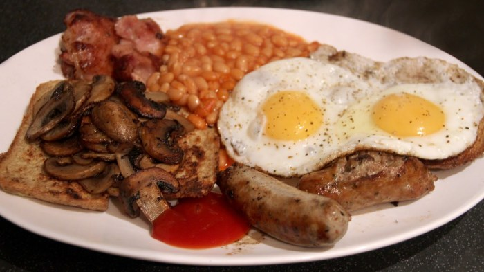 The world famous English breakfast.
