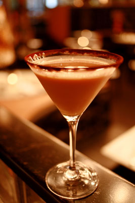 Not our number one cocktail of seduction, but this chocolate delight called Cupid's Kiss scored pretty high.