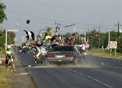 It's a fact that a drunk can cause way more damage when driving a car than riding a bike.