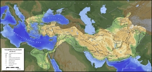 Alexander's empire by the time of his death.