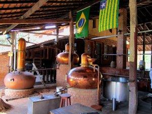 A traditional still for Brazilian Cachaça.