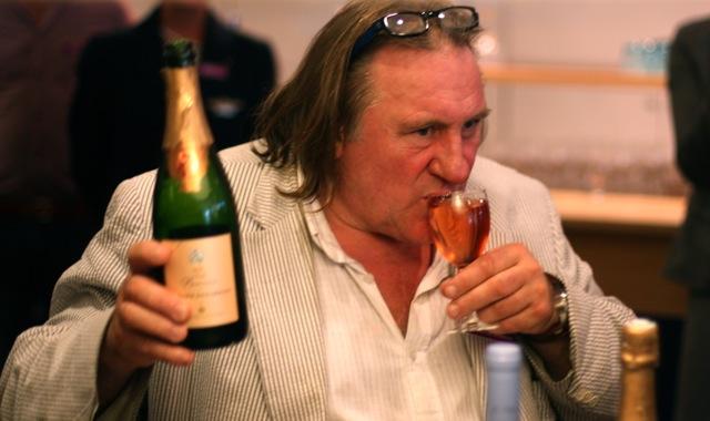 Gerard Depardieu with a classic pose.