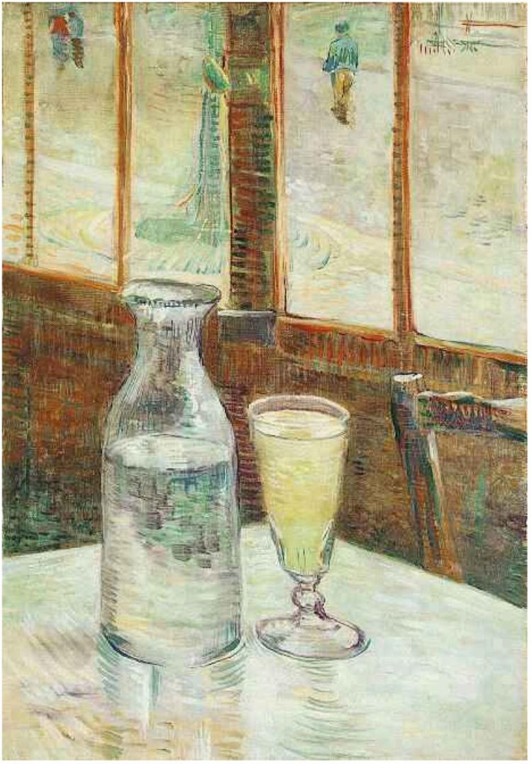 It is rumored that not only did Van Gogh enjoy absinthe to the extreme, but that he also devoured the oils and turpentines used in his paintings.