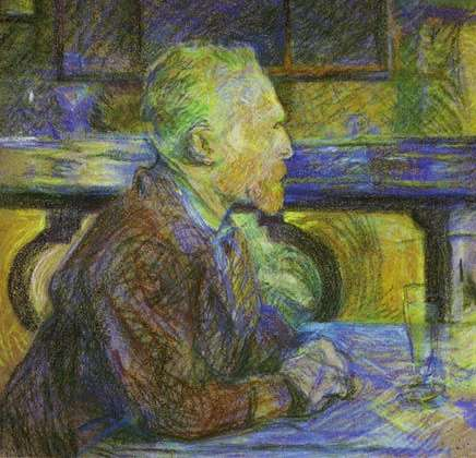 Was Vincent van Gogh addicted to absinthe and overly fond of camphor and turpentine? Did substance abuse help push him toward his suicide in ?Wilfred Niels Arnold.