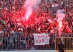 Banner by the fans of Red Star for 'Rizna'.