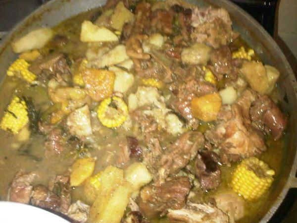 Sancocho de siete carnes, the most luxurious hangover cure in the Dominican Republic.