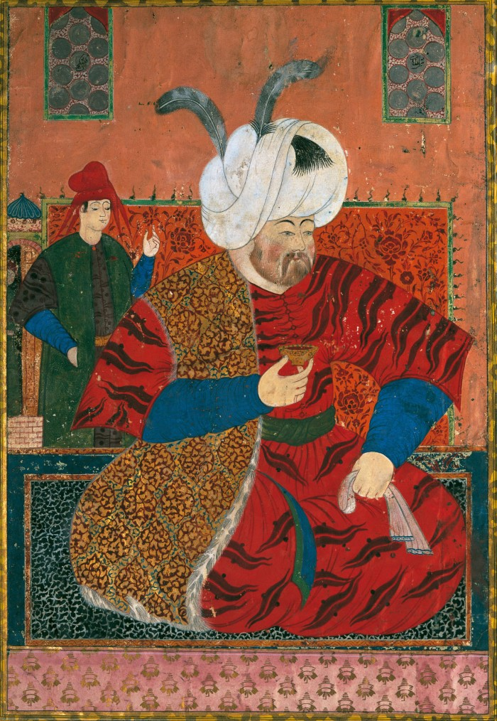 A portrait of Selim the Drunkard, the sultan who rather dealed with  orgies than politics.