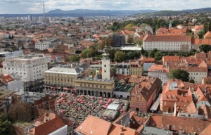 Zagreb aerial view