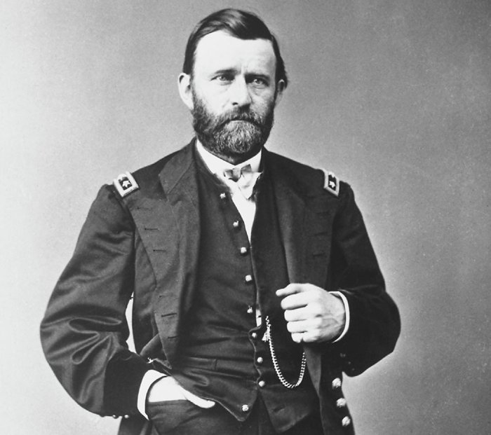 The famous American general Ulysses S. Grant.