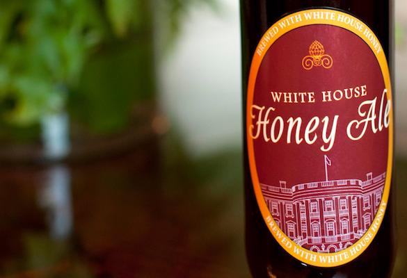 A bottle of homebrew beer from the White House.