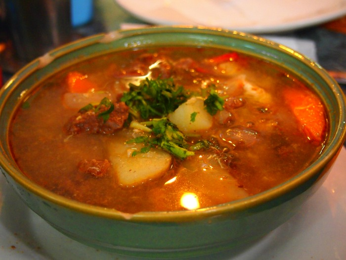 Ajiaco, a typical dish from Chile that cures hangovers.