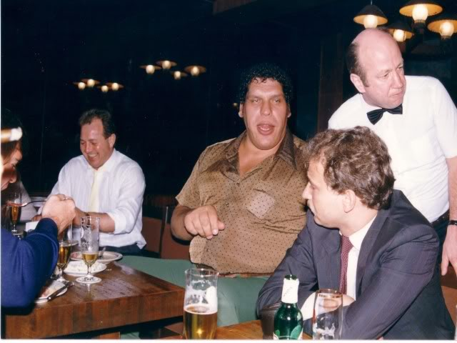 André the Giant was quite the social drunkard who always wanted people to drink with him and always picked up the check in the end.