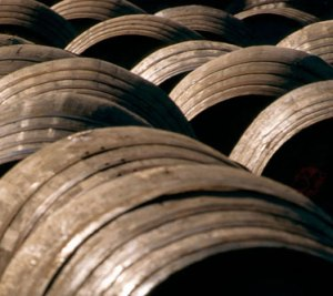 Barrels of aquavit waiting to be shipped in.