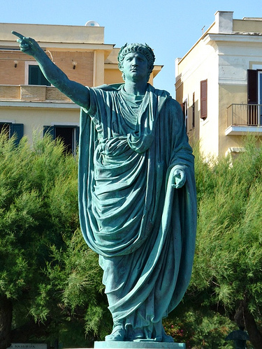 A statue of the Roman emperor Nero.