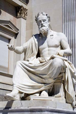 A statue of Xenophon in Vienna.