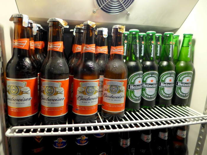 A horrible sight when brands like Budweiser and Heineken are occupying the space of decent beers.