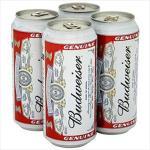 Budweiser cans.