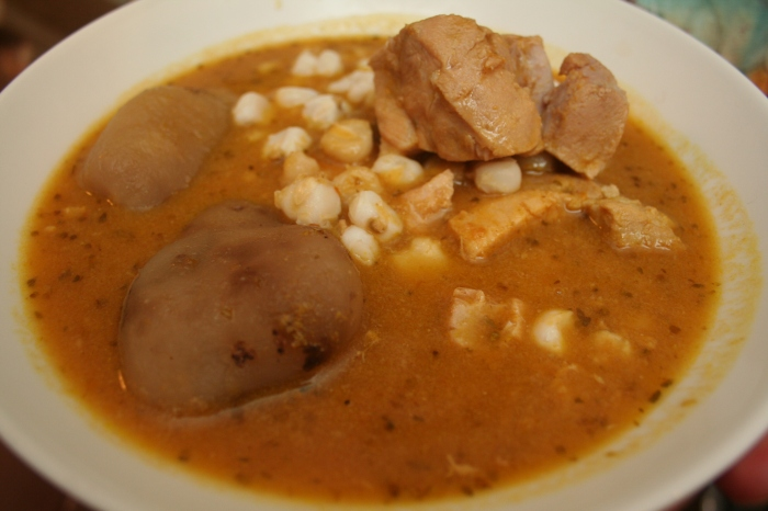 Fricasé Boliviano, the typical hangover cure from Bolivia.