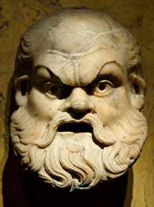 A Roman Silenus mask, meant for Bacchanalia.