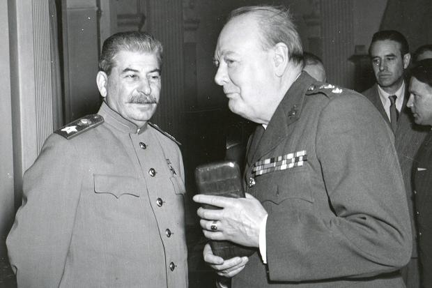 Jozef Stalin (left) and Winston Churchill both understood the importance of the occasional drink on the battlefield.