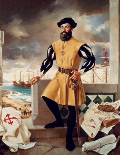 A portrait of Ferdinand Magellan.